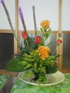 生け花教室にて